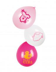 6 palloncini Baby Girl