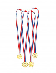 4 mini medaglie finte