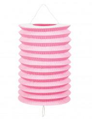 12 lampioni rosa di carta 20 cm