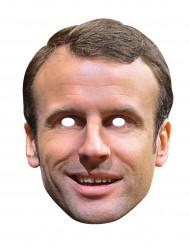 Maschera in lattice Emmanuel Macron