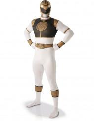 Costume seconda pelle bianco da Power Rangers™ adulto
