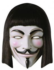 Maschera in cartone V per vendetta™ per adulto