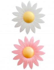 8 decorazioni per dolci fiori in ostia