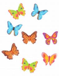 8 decorazioni per dolci farfalle in ostia