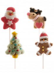 4 stecchini con gelatine a tema natalizio
