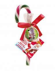 Bastoncino di zucchero natalizio con pallina rimbalzante