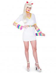 Costume bianco da unicorno per donna