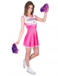 Costume da cheerleader rosa per donna