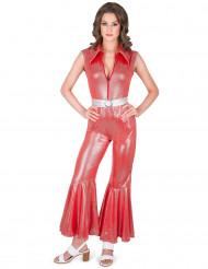 Costume disco tuta rossa per donna