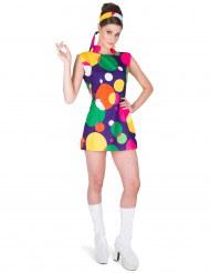 Costume colorato disco pop per donna