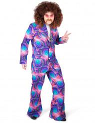 Costume psichedelico stile disco per adulto