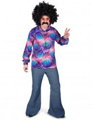Camicia psichedelica in stile disco per adulto