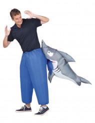 Costume attacco di squalo gonfiabile per adulto