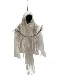 Decorazione da appendere scheletro incatenato luminoso Halloween