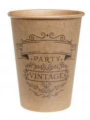 10 bicchieri kraft in cartone vintage