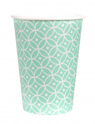 10 bicchieri di cartone motivo color menta