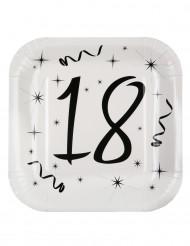 10 piatti quadrati in cartone 18 anni 23 cm