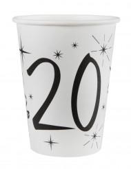 10 bicchieri bianchi 20 anni