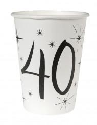 10 bicchieri bianchi 40 anni
