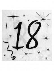 20 tovaglioli di carta 18 anni bianco e nero