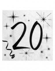 20 tovaglioli di carta 20 anni bianco e nero