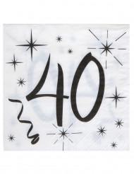 20 tovaglioli di carta 40 anni bianco e nero