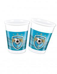 8 bicchieri di plastica Football Fans
