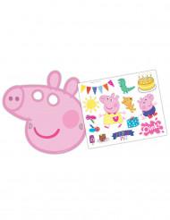 6 maschere con adesivi Peppa Pig™