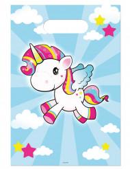 8 sacchetti per festa unicorno