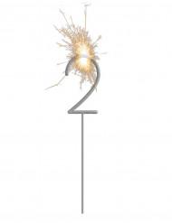 Stella filante luminosa con numero 2
