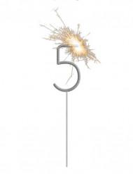 Stella filante luminosa con numero 5