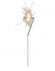 Stella filante luminosa con numero 7