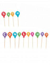 14 candeline buon compleanno colorate