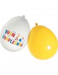 16 palloncini in lattice Buon compleanno