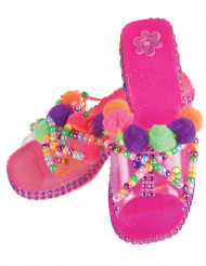 Scarpe rosa da principessa da personalizzare per bambina