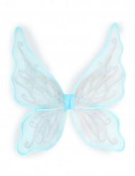 Ali da farfalla celesti per bambina