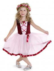 Costume con tutù rosa stime medievale bimba