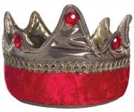 Corona da re cavaliere rossa per bambino