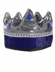 Corona da re cavaliere blu per bambino