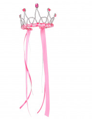 Corona rosa da regina medievale per bambina