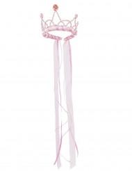 Corona rosa chiaro da regina medievale per bambina