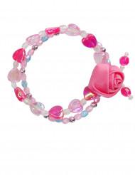 Bracciale con rosa per bambina