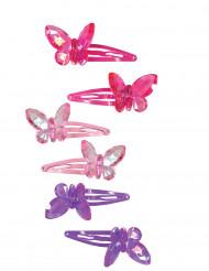 2 fermagli con farfalle per bambina