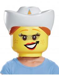 Maschera cowgirl della Lego® per bambino
