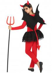 Costume da diavolo rosso e nero bambina