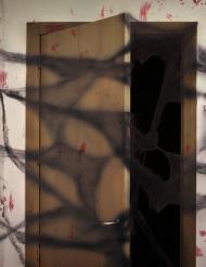 Decorazione ragnatela nera con ragni Halloween