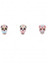 Ghirlanda scheletro colorato Dia de los muertos