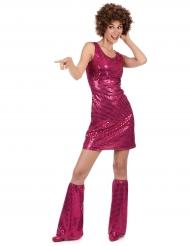 Costume disco fucsia per donna