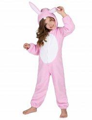 Costume coniglietto rosa bambina