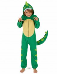 Costume da dinosauro verde bambino